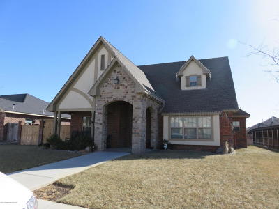 Potter County, Randall County Single Family Home For Sale: 7405 Cobblestone Dr