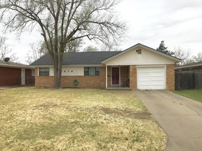Amarillo Single Family Home For Sale: 3414 Lynette Dr