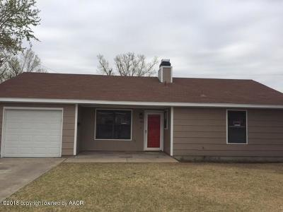 Perryton TX Single Family Home For Sale: $79,900