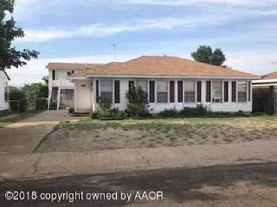 Borger Single Family Home For Sale: 1601 Clayton St