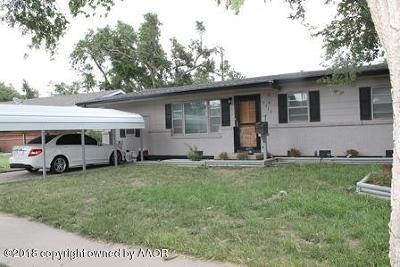 Perryton TX Single Family Home For Sale: $99,000