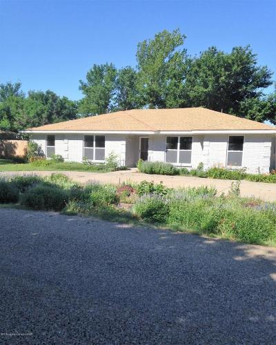 Borger Single Family Home For Sale: 205 Bois D'arc