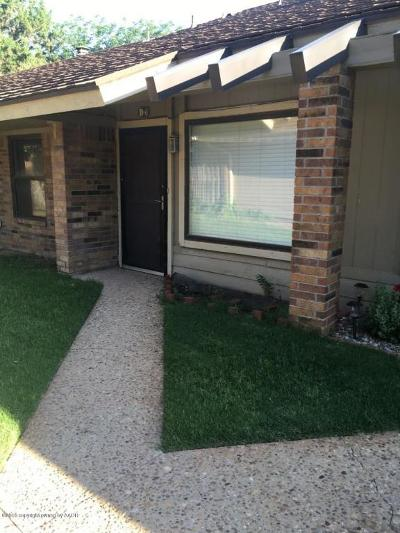 Amarillo Condo/Townhouse For Sale: 3000 Fleetwood D6 Dr