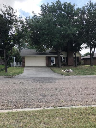 Borger Single Family Home For Sale: 805 Tranquility