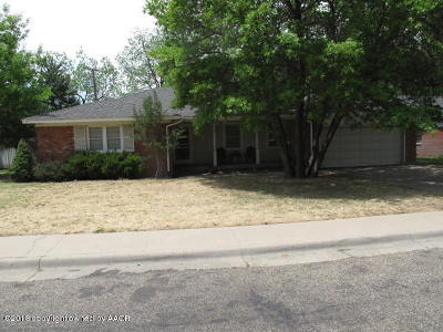 Amarillo Single Family Home For Sale: 3216 Austin St