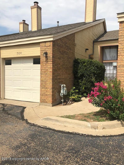 Amarillo Condo/Townhouse For Sale: 1801 Steeplechase #504 Dr