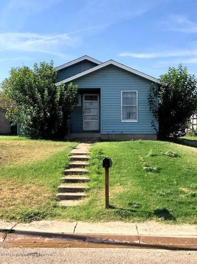 Borger Single Family Home For Sale: 917 Elmore St