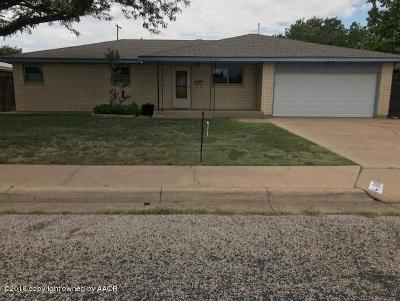 Amarillo Single Family Home For Sale: 1608 Jordan St