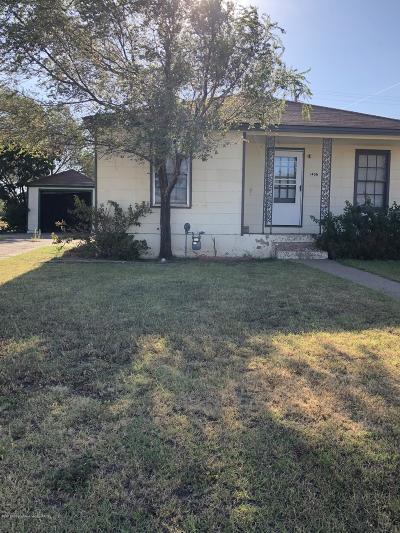 Borger Single Family Home For Sale: 1406 Baker St
