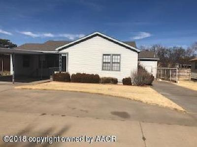 Borger Single Family Home For Sale: 510 5th W St