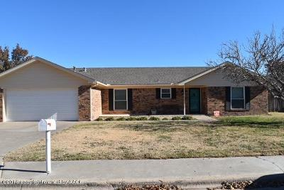 Perryton TX Single Family Home For Sale: $189,000