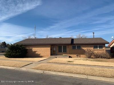 Perryton TX Single Family Home For Sale: $195,000
