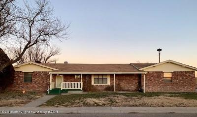 Perryton TX Single Family Home For Sale: $175,000