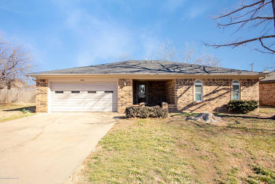 Panhandle Single Family Home For Sale: 1414 Pecan