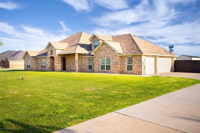 Amarillo Single Family Home For Sale: 19250 Saddlehorn Rd