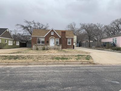 Amarillo Single Family Home For Sale: 819 Palo Duro St