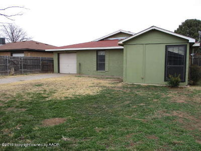 Amarillo Single Family Home For Sale: 3216 Vernon St