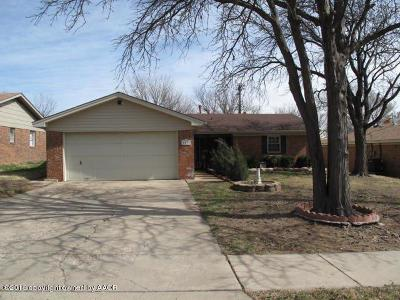 Amarillo Single Family Home For Sale: 5133 Temple Dr