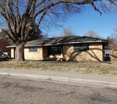 Amarillo Single Family Home For Sale: 3203 Rusk St