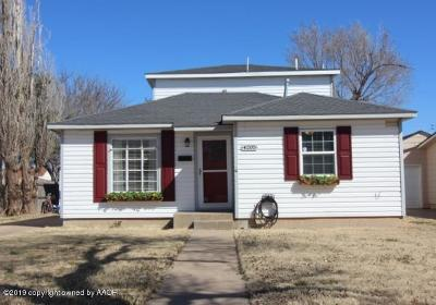 Amarillo Single Family Home For Sale: 4205 Ong St