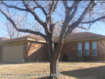 Borger Single Family Home For Sale: 811 Tranquility Ln