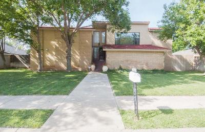 Amarillo Single Family Home For Sale: 7609 Sleepy Hollow Blvd