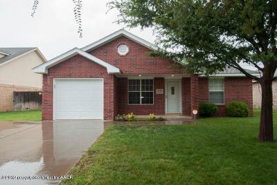 Amarillo Single Family Home For Sale: 3606 Williams St