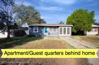 Amarillo Single Family Home For Sale: 3818 Monroe St