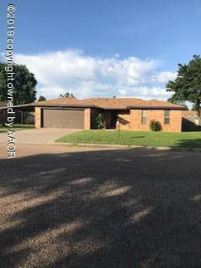 Fritch Single Family Home For Sale: 306 Coronado St