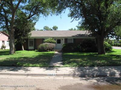 Amarillo Single Family Home For Sale: 2237 Peach Tree St