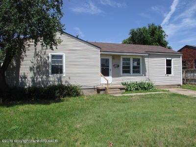 Amarillo Single Family Home For Sale: 1305 Columbine St