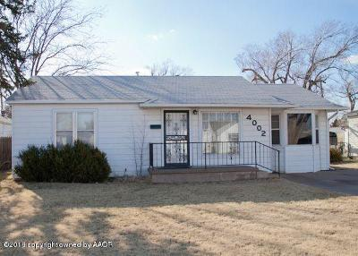 Amarillo Single Family Home For Sale: 4002 Travis St