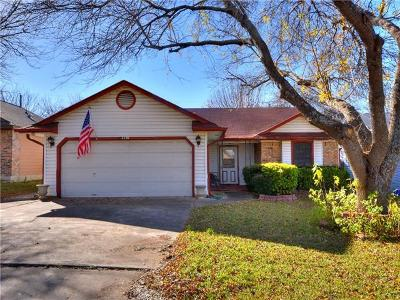 Round Rock Single Family Home For Sale: 2210 Stirrup Dr
