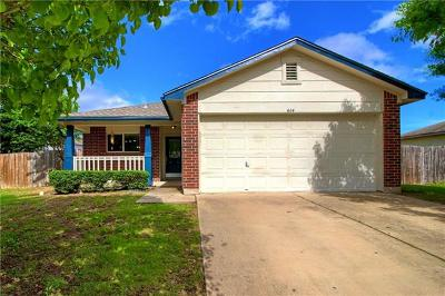 Hutto Single Family Home Pending - Taking Backups: 614 Losoya Ct