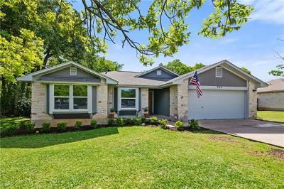 Cedar Park Single Family Home Pending - Taking Backups: 709 Grapevine Dr