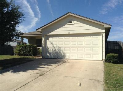 Hutto Rental For Rent: 615 Losoya Ct