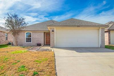 Jarrell Single Family Home For Sale: 605 Copper Ct