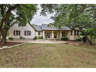 Dripping Springs Single Family Home For Sale: 212 Saddlehorn Dr