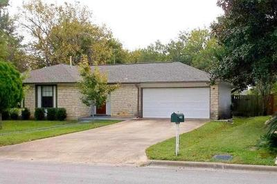 Round Rock Single Family Home Pending - Taking Backups: 1405 Parkside Cir