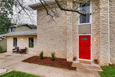 Travis County Single Family Home For Sale: 424 Baldridge Dr