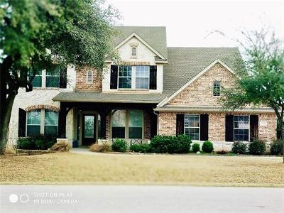 Leander Single Family Home For Sale: 2104 First Vw