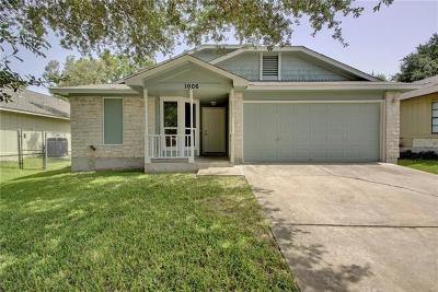 Austin Single Family Home For Sale: 1006 Bodgers Dr