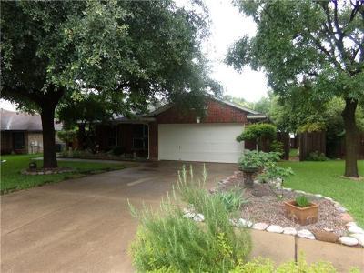 Round Rock Single Family Home For Sale: 1008 Jennifer Ln