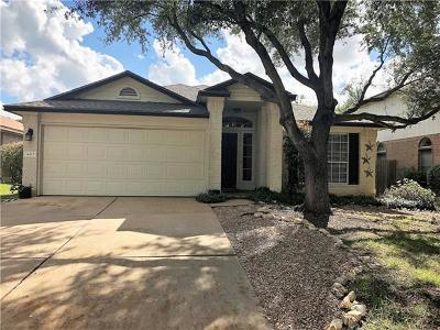 Hays County, Travis County, Williamson County Single Family Home Pending - Taking Backups: 4413 E Hove Loop