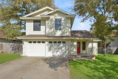 Round Rock Single Family Home For Sale: 3006 Peacemaker St