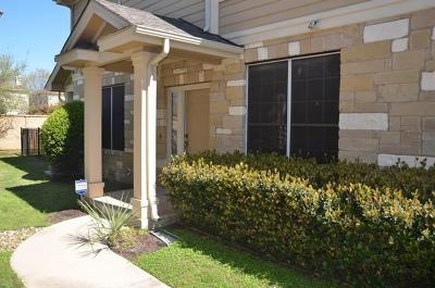 Round Rock Condo/Townhouse For Sale: 16100 S Great Oaks Dr #1102