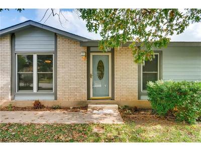 Round Rock Single Family Home For Sale: 1908 Denfield