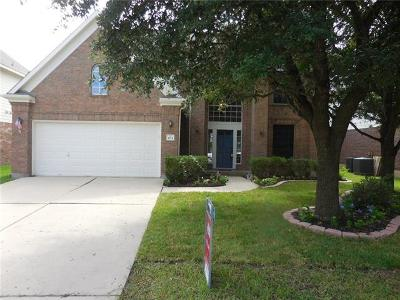 Round Rock Single Family Home For Sale: 3715 Geese Rte