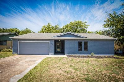 Round Rock Single Family Home For Sale: 1410 London Rd
