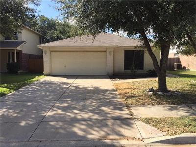 Round Rock Single Family Home For Sale: 3444 Flowstone Ln
